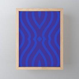 Bluesy Twist Framed Mini Art Print