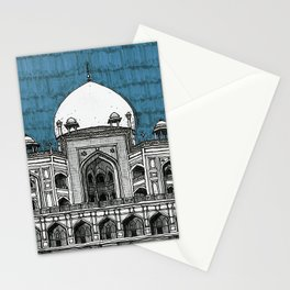 Humayun's Tomb (Teal) Stationery Cards