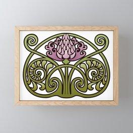 Nouveau Thistle Framed Mini Art Print