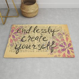 Endlessly Create Yourself Rug