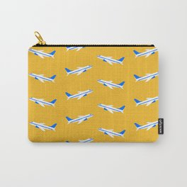 Planes in the Sky (yellow) Carry-All Pouch