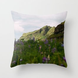 Lupine Fields in Iceland Throw Pillow