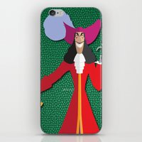 captain hook iPhone & iPod Skins featuring Captain Hook by AmadeuxArt
