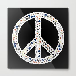 Books Peace Metal Print