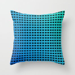 Small and little bluish pattern Throw Pillow