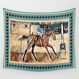 """Racehorse Fantasy"" Wall Tapestry"