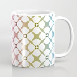 Floral Pattern with Rainbow Background Coffee Mug