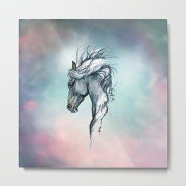Aqua horse Metal Print