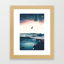 Not all who fall drown, those who stay submerged do. Framed Art Print