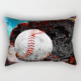 Baseball print work vs 3 Rectangular Pillow
