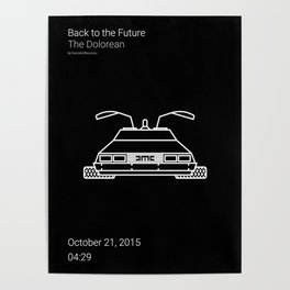 The Dolorean BTTF Poster