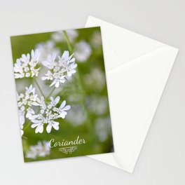 Coriander in flowers VI Stationery Cards