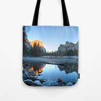 yosemite Tote Bags featuring Yosemite by Kelly Moncure