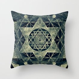 Sacred Geometry for your daily life- SRI YANTRA Throw Pillow