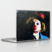 clown Laptop & iPad Skins featuring clown by laika in cosmos