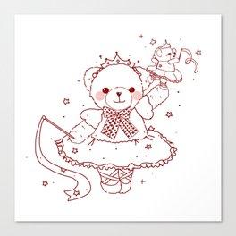 The Adventures of Bear and Baby Bear-Prima Ballerina Canvas Print