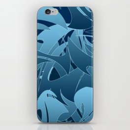 Blue Abstract Mayhem iPhone Skin