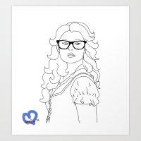 Hipster Belle Art Print