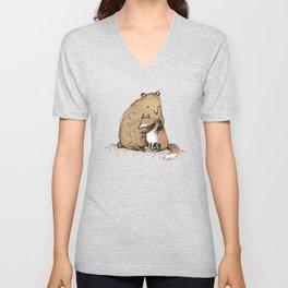 Grizzly Hugs Unisex V-Neck
