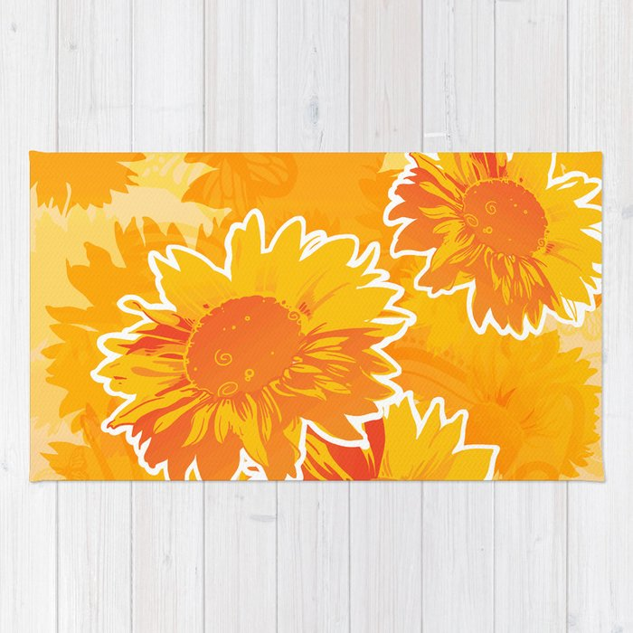 Sunflower Jubilee Rug