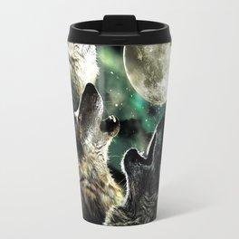 three wolf moon Travel Mug