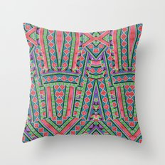 watermelon tribe Throw Pillow