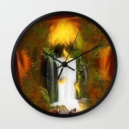 The flower of joy Wall Clock