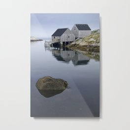 Early Morning at Peggy's Cove Harbor Metal Print