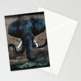 Spray Paint - Morphed Elephant Stationery Cards