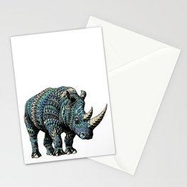 Rhinoceros (Color Version) Stationery Cards