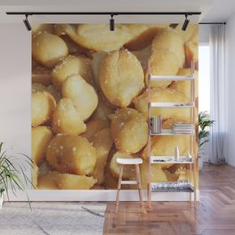 food, many small salted peanuts Wall Mural
