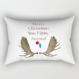 Merry Christmas You Filthy Animal Rectangular Pillow
