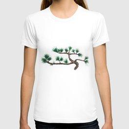 green pine tree painting T-shirt