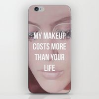 makeup iPhone & iPod Skins featuring Makeup by ewwidc