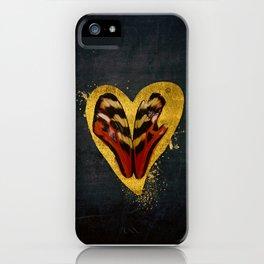 Butterfly wings in my heart iPhone Case