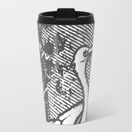 Gray crane illustration Travel Mug