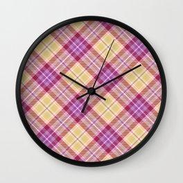 Scottish tartan #22 Wall Clock