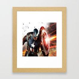 Man Of Captain In America Framed Art Print