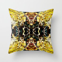Chaos Tree Kaleidoscope 3 Throw Pillow