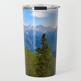 Collin Range as seen from the Palisades in Jasper National Park, Canada Travel Mug