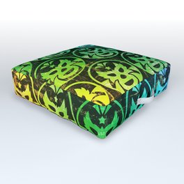 mexican wrestling mask Outdoor Floor Cushion