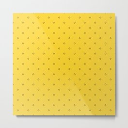 Yellow And Black small square pattern Metal Print