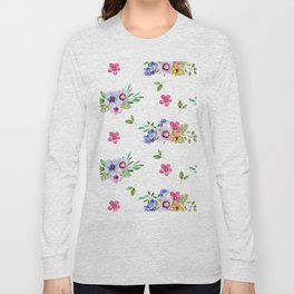 Bright Flowers Long Sleeve T-shirt