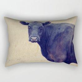 Looking Cow Rectangular Pillow
