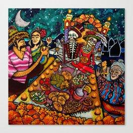Buffet nel dìa de los muertos Canvas Print