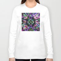 tie dye Long Sleeve T-shirts featuring Colorful Tie Dye Abstract by Phil Perkins