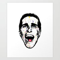 american psycho Art Prints featuring American Psycho by CultureCloth