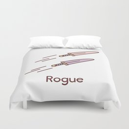 Cute Dungeons and Dragons Rogue class Duvet Cover