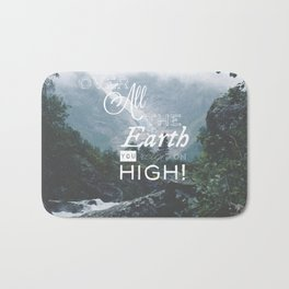 Over All the Earth Bath Mat