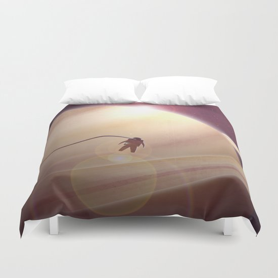 Sunrise From Saturn Duvet Cover